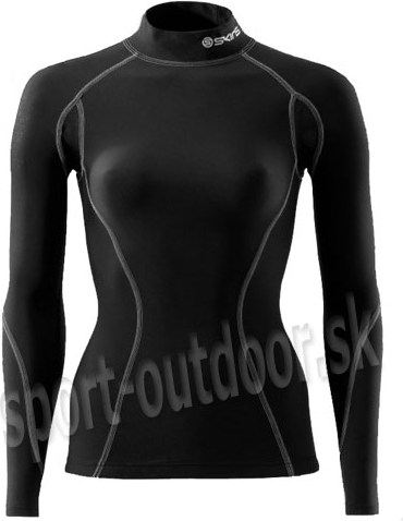 Skins Snow Thermal Compression Long Sleeve Top with Mock Neck