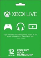 Microsoft Xbox 360 Live 12-Month Gold Subscription Card