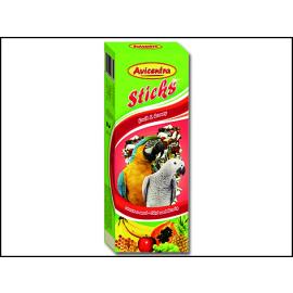 Avicentra Tyčinka velký papagáj ovocie med 2ks