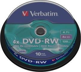 Verbatim 43552 DVD-RW 4.7GB 10ks