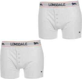 Lonsdale 2 Pack Boxer Mens