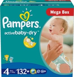 Pampers Active Baby 4 Maxi 7-14kg 132ks