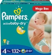 Pampers Active Baby 4 132ks - 24,99 €, porovnanie