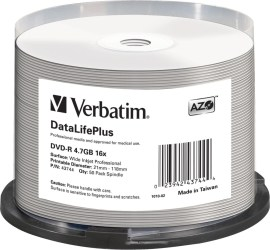 Verbatim 43744 DVD-R 4.7GB 50ks