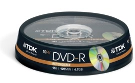 TDK t19415 DVD-R 4.7GB 10ks
