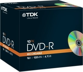 TDK t19408 DVD-R 4.7GB 10ks
