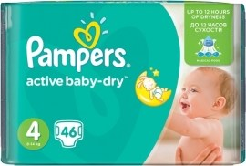 Pampers Active Baby 4 Maxi 7-14kg 46ks