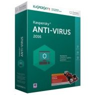 Kaspersky Anti-Virus 2015 CZ 3 PC 1 rok