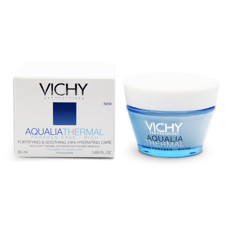 Vichy Aqualia Thermal Fortifying, Soothing and 24hr Hydrating Care Rich 50ml