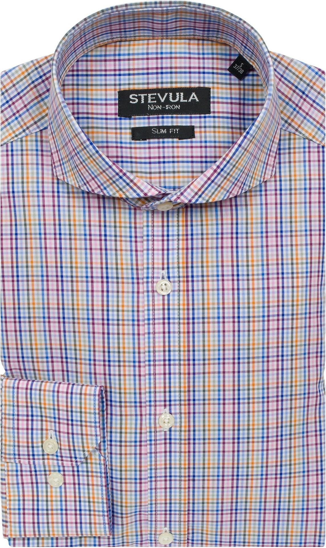 3c9bb20f4043 Stevula Farebná károvaná košeľa