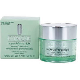 Clinique  Superdefense Night Recovery Moisturizer Combination To Oily Skin  50ml