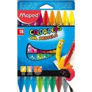 Maped  Color Peps Oil Pastels, 18 farieb