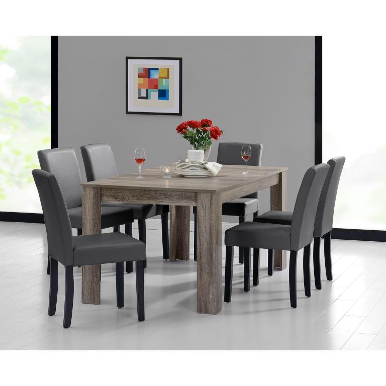 9e51d61f26dd En Casa Rustikálny dubový jedálenský stôl HTFU-2337 so 6 stoličkami  HTMY-9703
