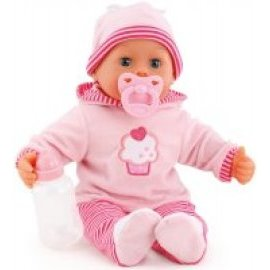 Bayer Design  First Words Baby bábika svetloružová, 38cm