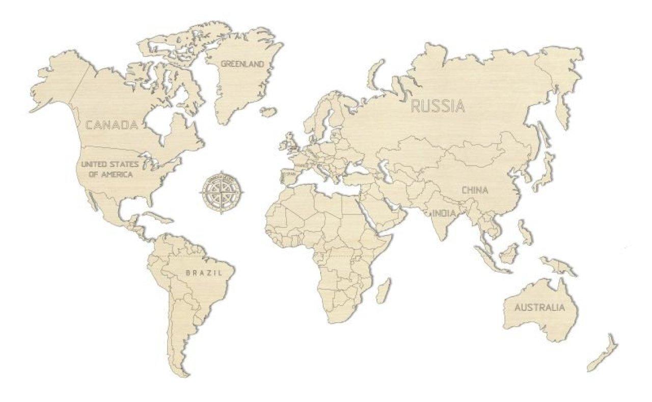 Wooden City Drevena Mapa Sveta Na Stenu M Cena Od 18 58 Pricemania