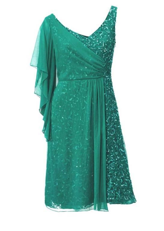 8671819a2179 Ashley Brooke Spoločenské koktejlové šaty zelené
