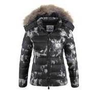 dbfcd1778729 Jott Dámska značková bunda s pravou kožušinou čierno šedá
