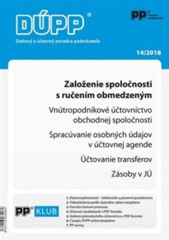 f18d9e315 DUPP 14/2018 Založenie spoločnosti s ručením obmedzeným od 9,22 ...