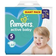 Pampers Active Baby Dry 5 64ks - 17,99 €, porovnanie