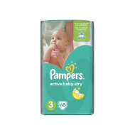 Pampers Active Baby Dry 3 68ks - 15,80 €, porovnanie