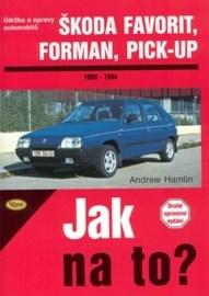 Škoda Favorit, Forman, Pick-up od 1989 do 1994