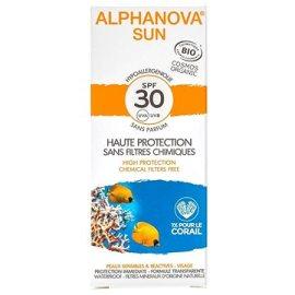 Alphanova  Sun BIO Opaľovací krém na tvár SPF30  50g
