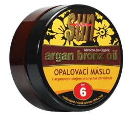 Vivaco Opaľovacie maslo s arganovým olejom pre rýchle zhnednutie SPF6 200ml