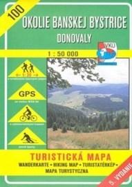 Okolie Banskej Bystrice - Donovaly - turistická mapa č. 100