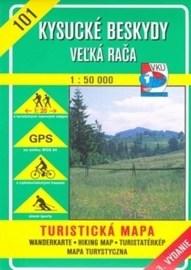 Kysucké Beskydy - Veľká Rača - turistická mapa č. 101