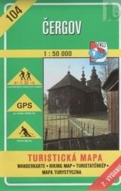 Čergov 1:50 000  turistická mapa č. 104