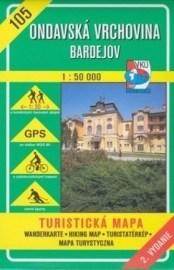 Ondavská vrchovina - Bardejov - turistická mapa č. 105