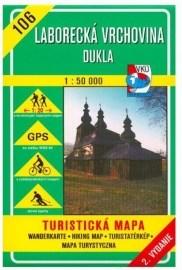 Laborecká vrchovina - Dukla - turistická mapa č. 106