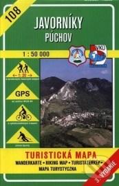 Javorníky - Púchov - turistická mapa č. 108