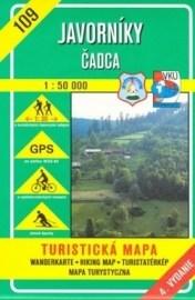 Javorníky - Čadca - turistická mapa č. 109