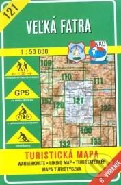 Veľká Fatra - turistická mapa č. 121