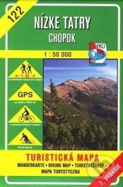 Nízke Tatry - Chopok - turistická mapa č. 122