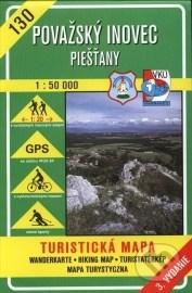 Považský Inovec - Piešťany - turistická mapa č. 130