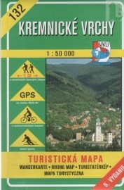 Kremnické vrchy - turistická mapa č. 132