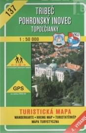 Tríbeč - Pohronský Inovec - Topoľčianky - turistická mapa č. 137