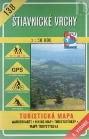 Štiavnické vrchy - turistická mapa č. 138