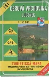 Cerová vrchovina Lučenec 1:50 000 - turistická mapa č. 141
