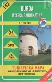 Burda - Ipeľská pahorkatina - turistická mapa č. 142
