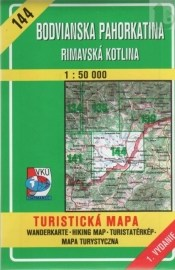 Bodvianska pahorkatina - Rimavská kotlina - turistická mapa č. 144