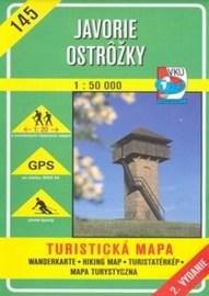 Javorie - Ostrôžky - turistická mapa č. 145