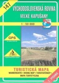 Východoslovenská rovina - Veľké Kapušany - turistická mapa č. 147