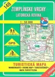 Zemplínske vrchy - Latorická rovina - turistická mapa č. 148