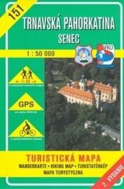 Trnavská pahorkatina - Senec - turistická mapa č. 151