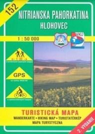 Nitrianska pahorkatina - Hlohovec - turistická mapa č. 152