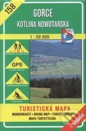 Gorce, Kotlina Nowotarska - turistická mapa č. 158