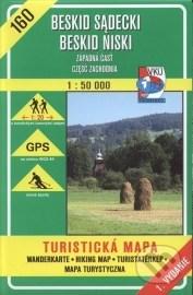 Beskid sadecki, Beskid Niski - turistická mapa č. 160